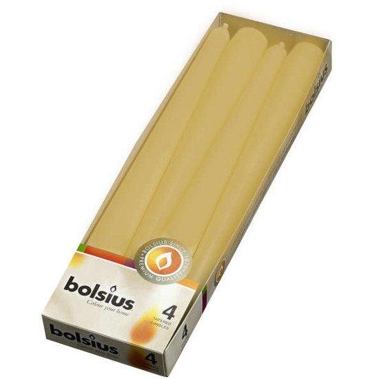 Bolsius Dinner Candle świeca szpica 245/24 mm 4 szt - Miodowy