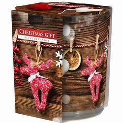 Bispol Aura scented candle in glass printed box Holiday 100 g - Christmas Gift