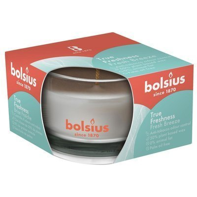 Bolsius medium scented candle in glass 50/80 mm True Freshness white - Fresh Breeze