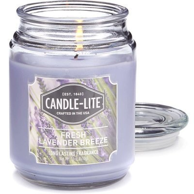 Candle-lite Everyday Collection Jar Glass Scented Candle 18 oz 510 g - Fresh Lavender Breeze