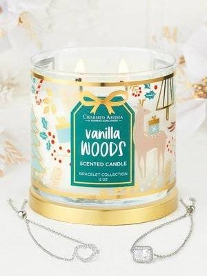 Charmed Aroma jewel soy scented candle with Bracelet 12 oz 340 g - Seaside Dreams