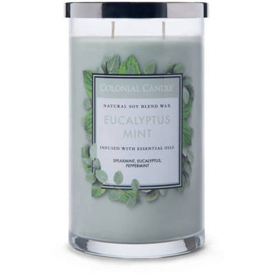 Colonial Candle large scented jar candle 18 oz 510 g - Eucalyptus Mint