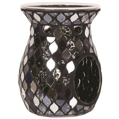 Woodbridge fragrance wax burner Black Mirror Teardrop Mosaic - Black