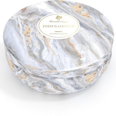 Woodbridge marble scented tin candle 3 wicks 470 g - Indulgence