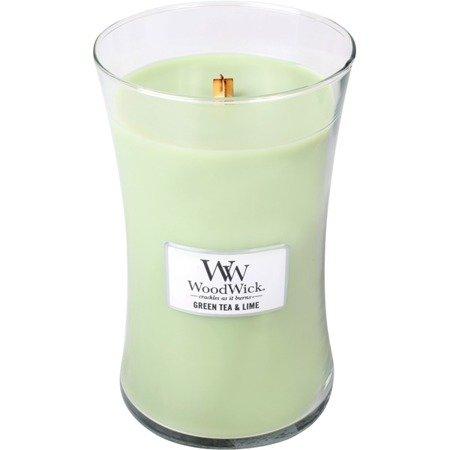 WoodWick Core Large Candle świeca zapachowa sojowa w szkle ~ 175 h - Green Tea & Lime