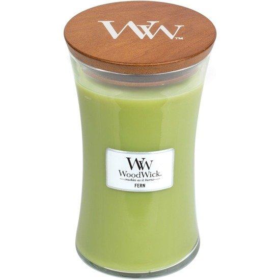 WoodWick Core Large Candle świeca zapachowa z drewnianym knotem w szkle ~ 175 h - Fern