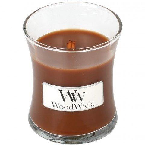 WoodWick Core Small Candle świeca zapachowa w szkle z drewnianą pokrywką ~ 40 h - Jolly Gingerbread